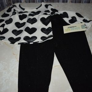 2pc Heart Top Sparkle Bow Pants 12m New Party New